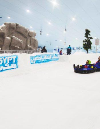 ice ski egypt تزحلق على الثلج فى مصر tube run