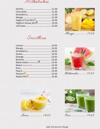 الهمبرا كافيه شرم Al Hambra Cafe Sharm menu 3