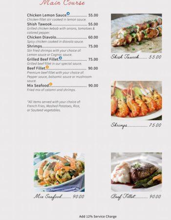 الهمبرا كافيه شرم Al Hambra Cafe Sharm menu