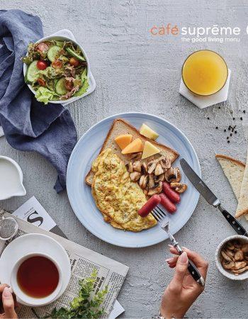 Café Supreme in Cairo American healthy breakfast – كافيه سوبريم فى القاهرة مصر الجديدة