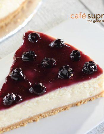 Café Supreme in Cairo Blueberry Cheesecake – كافيه سوبريم فى القاهرة مصر الجديدة